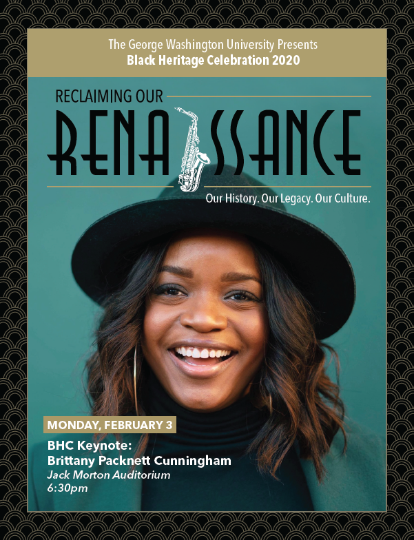 BHC 2020 Keynote: Brittany Packnett Cunningham. Monday, February 3rd at 6:30pm in the Jack Morton Auditorium.