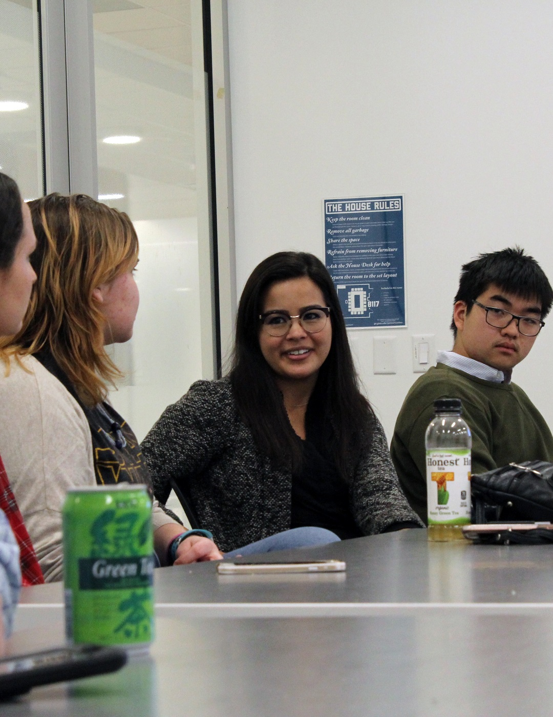 Students talking at a NAHC 2018 event