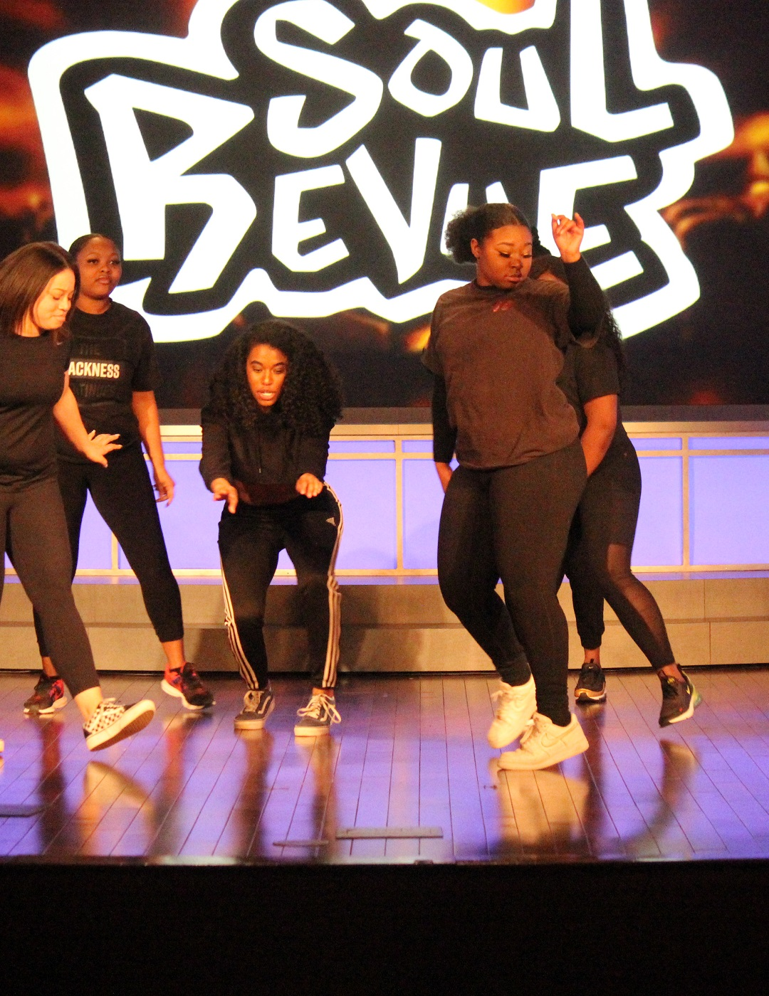 Student dancers at Soul Revue 2020
