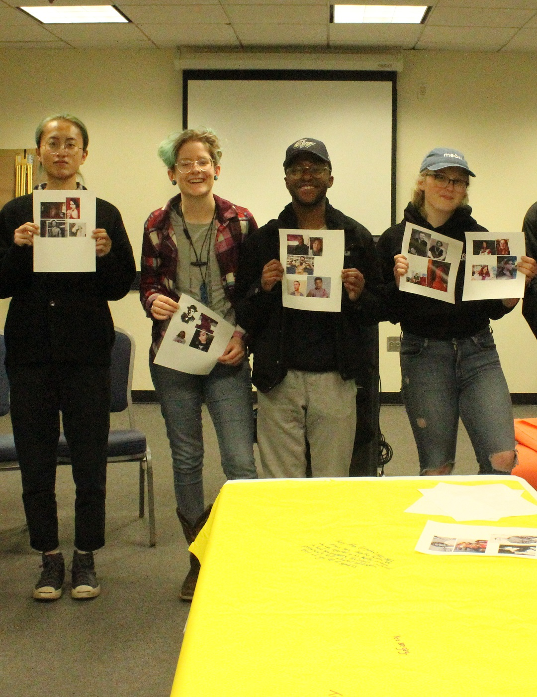 Students at a Trans Awareness Week 2020 event
