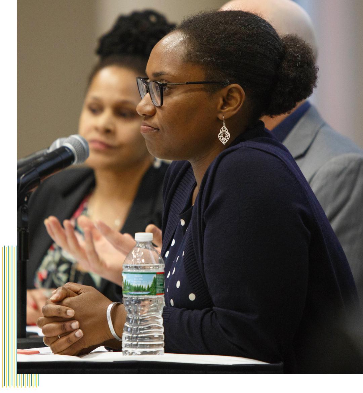 Panelist speaking